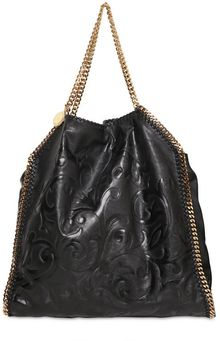 Stella McCartney Large Falabella Embossed Faux Nappa Bag - Lyst