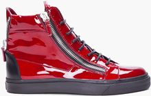 Giuseppe Zanotti Red Patent Leather Sneakers - Lyst