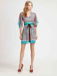 Nanette Lepore Candle Light Silk Dress - Lyst