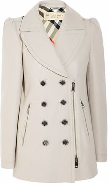 Burberry Brit Double Breasted Wool Blend Coat - Lyst