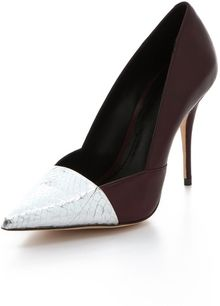 Elizabeth And James Sash Snake Dorsay Pumps - Lyst