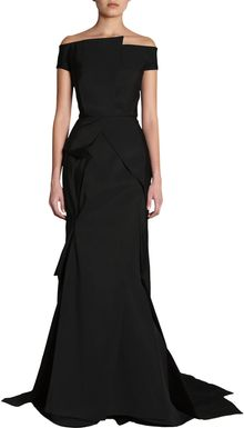 J. Mendel Off The Shoulder Gown - Lyst
