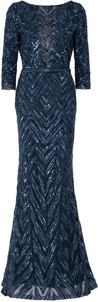 Elie Saab Three Quarter Sleeves Gown - Lyst