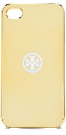 Tory Burch Metallic Iphone 4 Case - Lyst