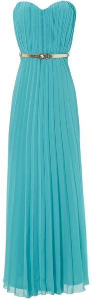 Jane Norman Pleated Belted Maxi - Lyst
