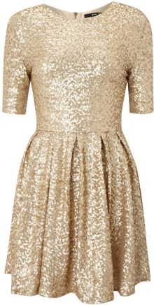 Tfnc Fit and Flare Sequin Dress - Lyst