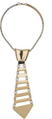 Topshop Metal Tie Necklace - Lyst
