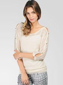 Ella Moss Heartland 34 Sleeve Top - Lyst