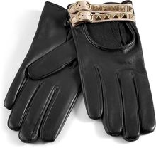 Valentino Black Studded Driving Gloves - Lyst