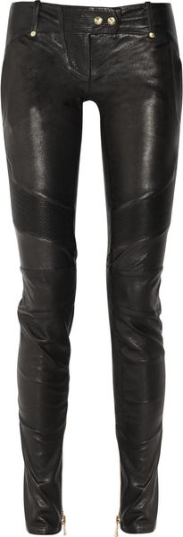 Balmain Skinny Leather Pants - Lyst