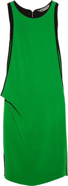 Reed Krakoff Draped Silk Blend Crepe Dress - Lyst