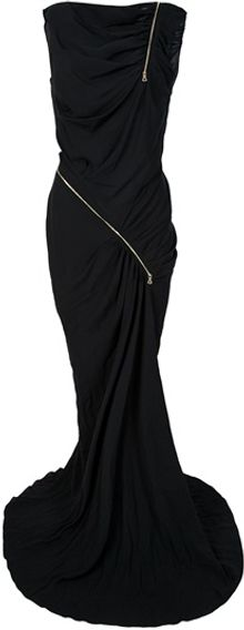 Nina Ricci Zip Detail Evening Gown - Lyst