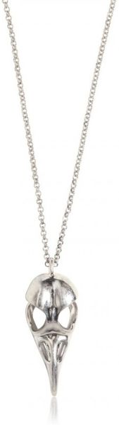 Alexander McQueen Bird Skull Brass Necklace - Lyst