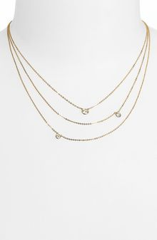 Bony Levy Three Row Diamond Necklace - Lyst