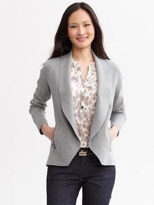 Banana Republic Zip Pocket Sweater Jacket - Lyst