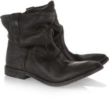 Isabel Marant Jenny Slouchy Leather Ankle Boots - Lyst