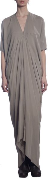 Rick Owens Front Ruched Dress - Lyst