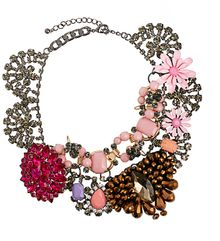 Asos Premium Jewelled Flower Collar Necklace - Lyst