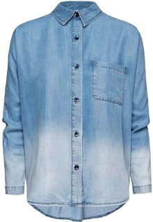 Mango Degrade Denim Shirt - Lyst