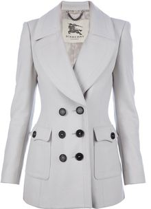 Burberry Double Breasted Pea Coat - Lyst