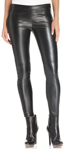 Michael Kors Skinny Faux Leather Leggings - Lyst