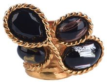 Saint Laurent Multistone Ring - Lyst