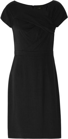 J.Crew Origami Pleated Wool Crepe Dress - Lyst