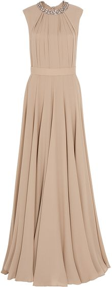 Elie Saab Embellish Collar Georgette Gown - Lyst