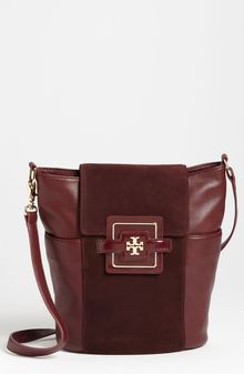 Tory Burch Julian Small Bucket Bag - Lyst