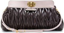 Miu Miu Matelassé Oversized Colorblock Leather Clutch - Lyst