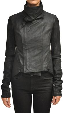 Rick Owens Leather Naska Bikerjacket - Lyst