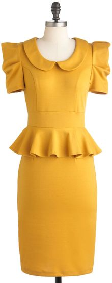 ModCloth Work with Me Dress in Mustard - Lyst