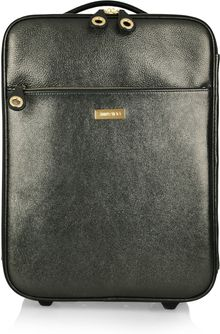 Jimmy Choo Regan Glitter finish Leather Suitcase - Lyst