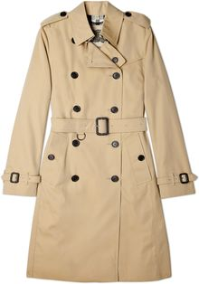Burberry Brit Honey Cotton Trench Coat - Lyst