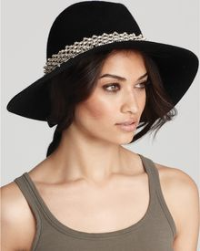 Juicy Couture Floppy Fedora with Embellished Band - Lyst