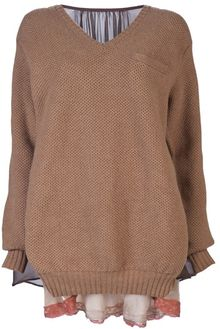 Sacai Cape Back Sweater - Lyst