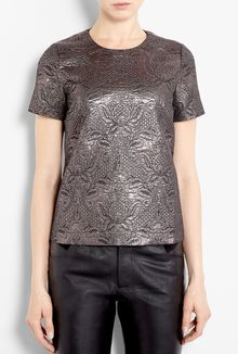 Elizabeth And James Embossed Brocade Effect Shell Top - Lyst