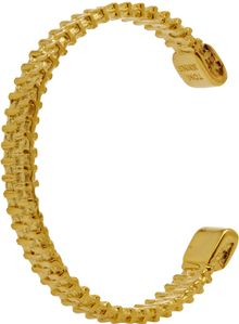Tom Binns Zip Gold Cuff - Lyst
