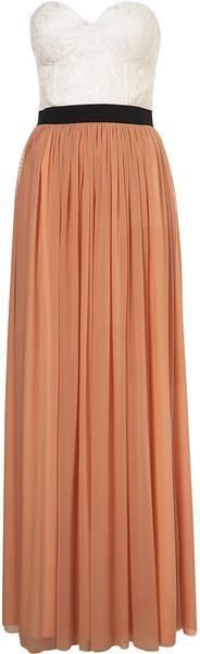 Topshop Bustier Maxi Dress By Cocos Fortune - Lyst