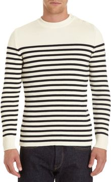 Saint James Striped Button Shoulder Sweater - Lyst