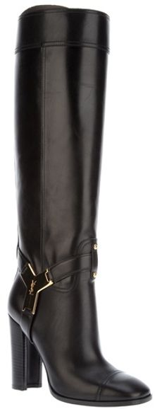 Saint Laurent Knee Length Boot - Lyst
