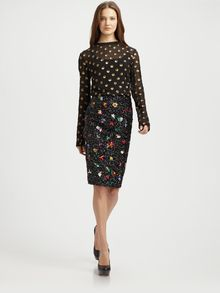 Suno Beaded Sequin Pencil Skirt - Lyst