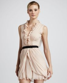 Vera Wang Lavender Ruffled Cocktail Dress - Lyst