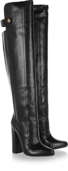 Alexander Wang Leather Knee Boots - Lyst
