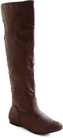 ModCloth Get Stitched Quick Boot in Brown - Lyst