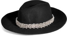 Juicy Couture Black Floppy Wool Crystal Embellished Fedora - Lyst