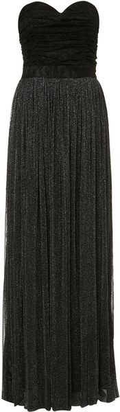 Topshop Lurex Maxi Dress By Rare - Lyst