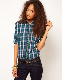 ASOS Collection Shirt with Mixed Checks - Lyst