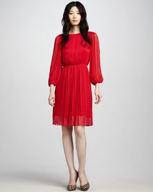 Alice + Olivia Fern Pleated Dress - Lyst
