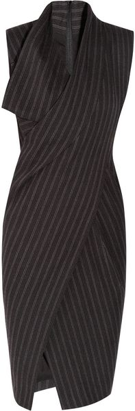 Donna Karan New York Origami Wool-Blend Dress - Lyst